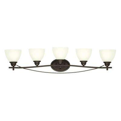Elvaston 5-Light Oil-Rubbed Bronze Wall Mount Bath Light