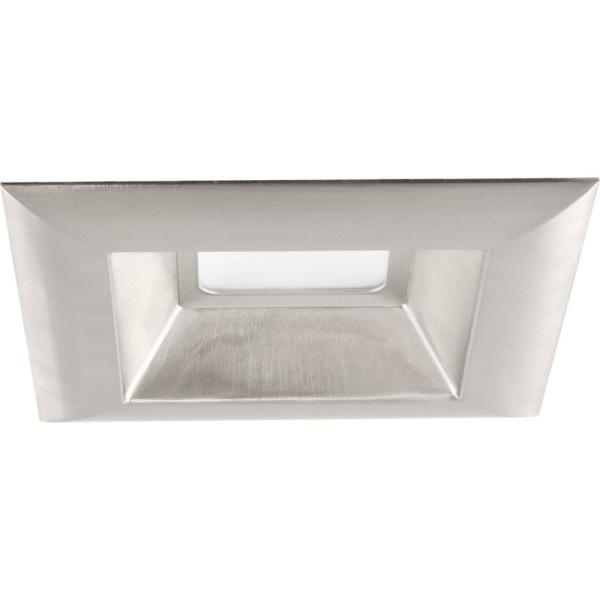 Retrofit Square Collection 6 in. Brushed Nickel Integrated LED Recessed Trim