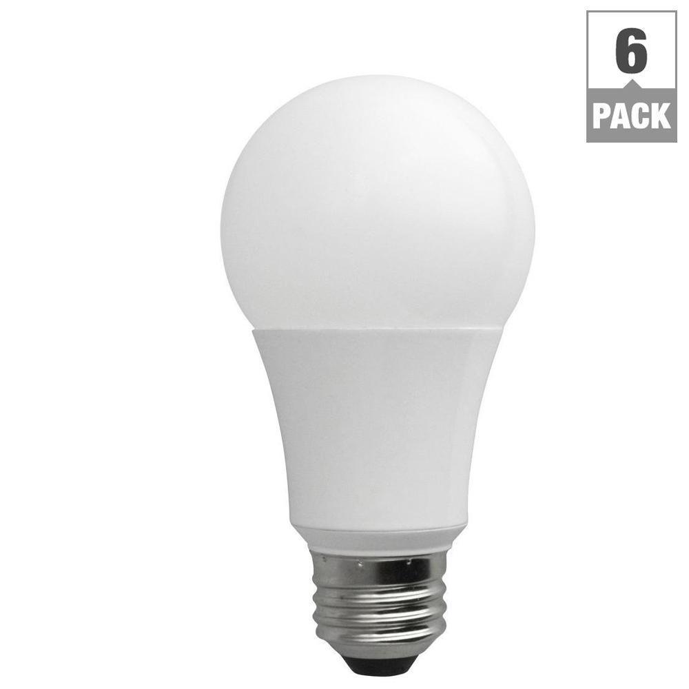 60-Watt Equivalent Daylight (5000K) A19 Non-Dimmable LED Light Bulb (6-Pack)