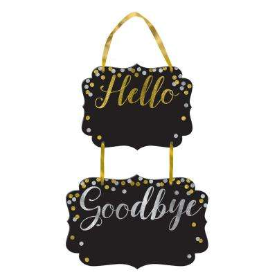 New Year's 14 in. Hello, Goodbye Chalkboard (4-Pack)