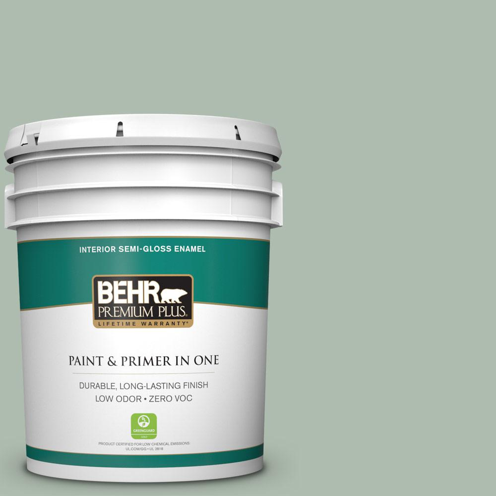 5-gal. #450E-3 Southern Breeze Zero VOC Semi-Gloss Enamel Interior Paint