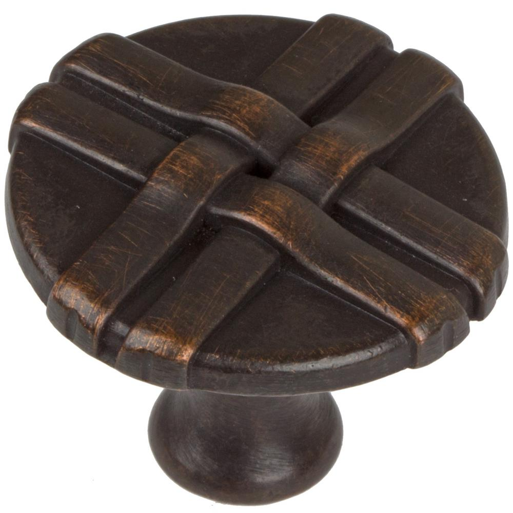 1-1/4 in. Dia Oil Rubbed Bronze Gift Weave Cabinet Knob (10-Pack)