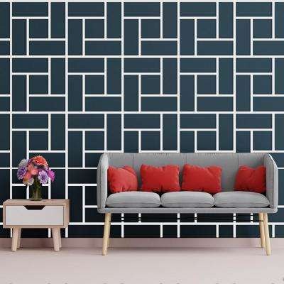 3/8 in. x 23-3/4 in. x 23-3/4 in. Large Sheffield White Architectural Grade PVC Decorative Wall Panels