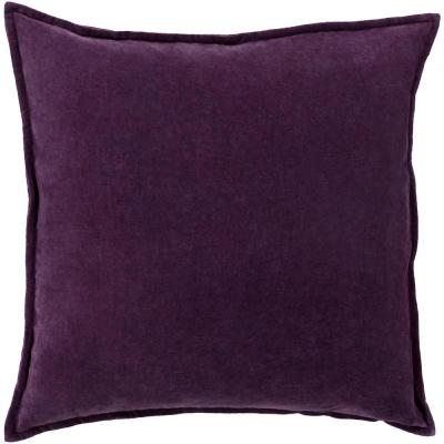 Velizh Dark Purple Solid Polyester 22 in. x 22 in. Throw Pillow