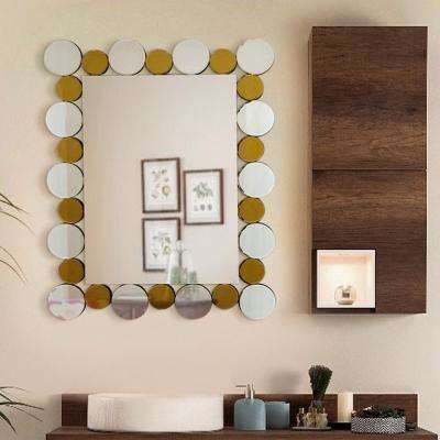 35.5 in. L x 27.5 in. W Coins In The Fountain Mirror - Decorative Rectangle Wall Mirror