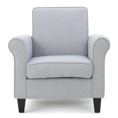 Freemont Light Gray Fabric Club Chair
