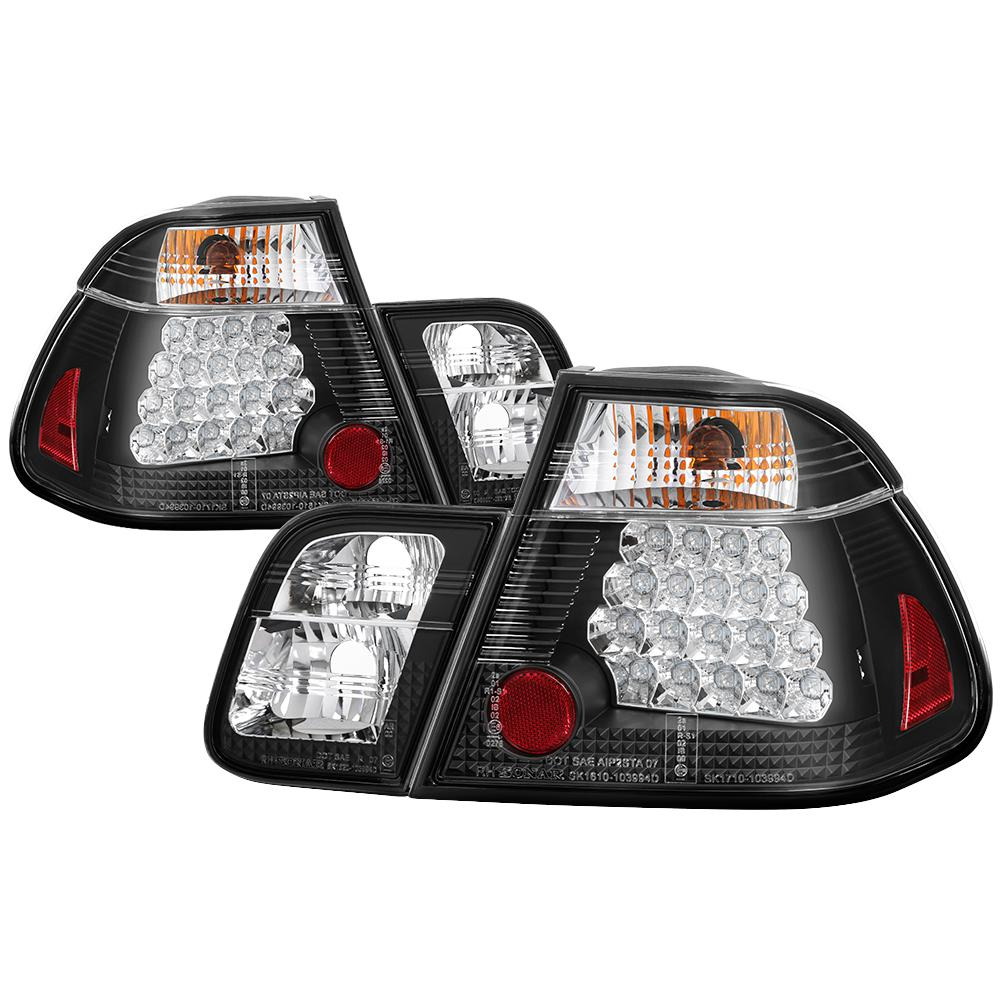 Spyder Auto BMW E46 3-Series 02-05 4Dr ( does not include red fog light  bulb) Tail Lights - Black