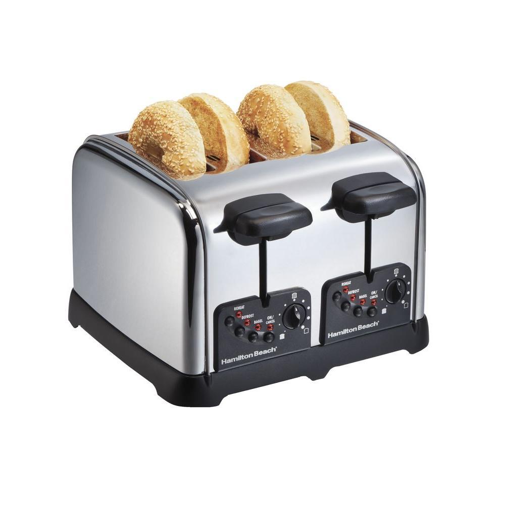Hamilton Beach 4-Slice Toaster in Chrome-DISCONTINUED