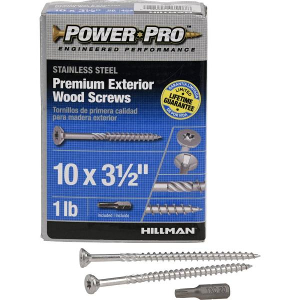 Hillman Wood Screws No 10 X 3//4  Phillips Flat Head 15 Card