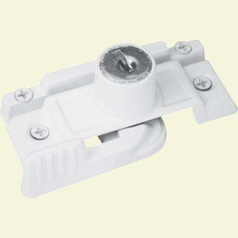 Slim-Line White Metal Keyed Sliding Window Sash Lock