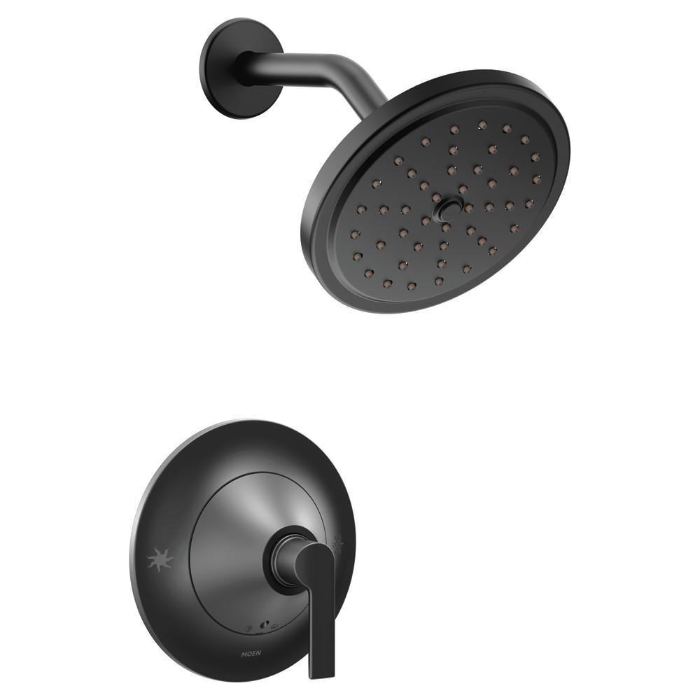 Doux 1-Handle Posi-Temp Shower Faucet Trim Kit in Matte Black (Valve Not Included)