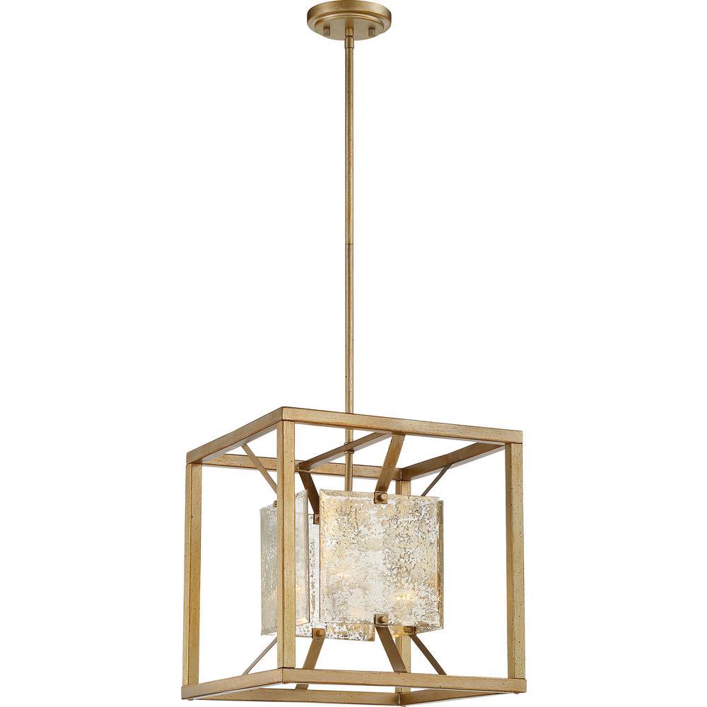 1-Light Antique Gold Pendant