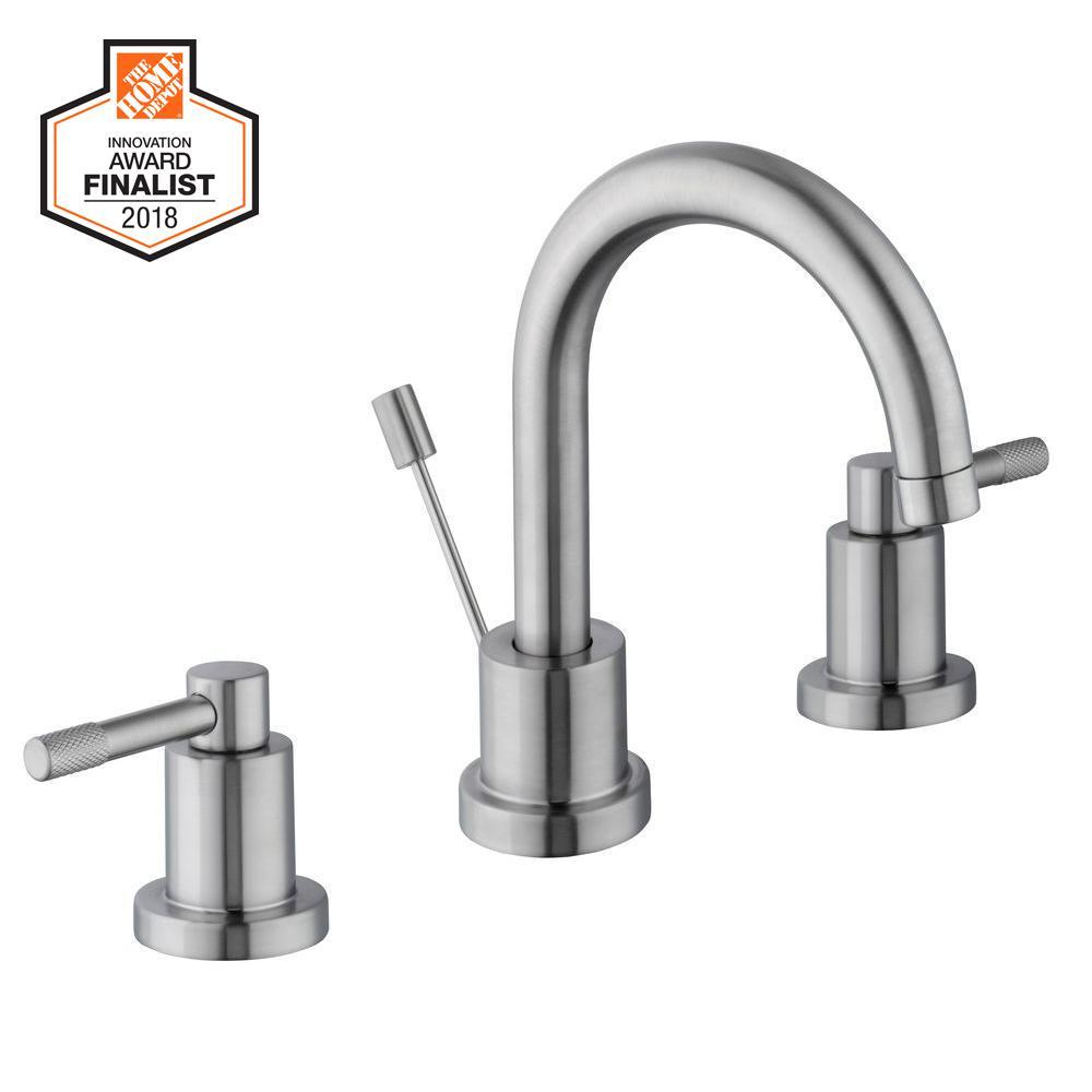 Axel 8 in. Widespread 2-Handle High-Arc Bathroom Faucet in Brushed Nickel