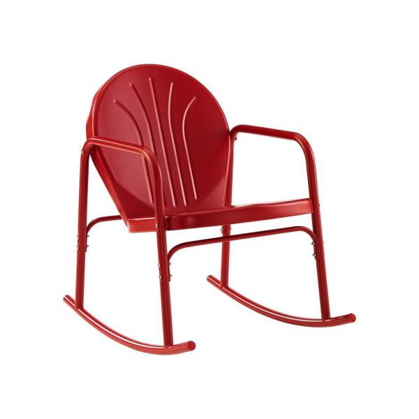 Griffith Red Metal Outdoor Rocking Chair (2-Pack)
