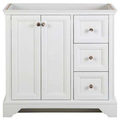 Stratfield 36.02 in. W x 21.69 in. D x 34.25 in. H Bath Vanity Cabinet Only in White