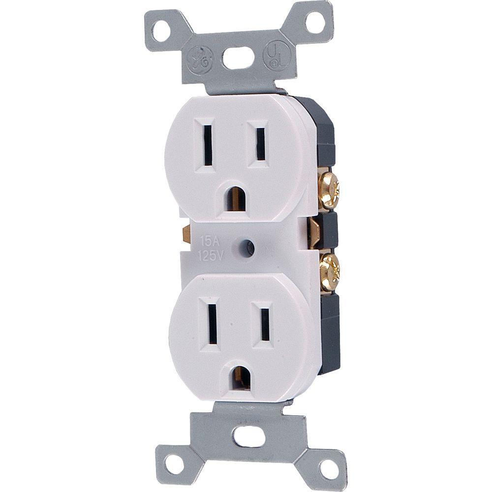15 Amp 125-Volt AC Tamper Resistant Duplex Grounded Receptacle, White