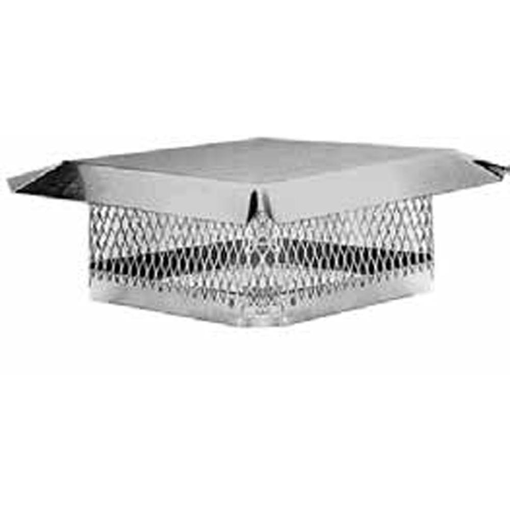 master flow 9 in x 13 in stainless steel fixed chimney cap