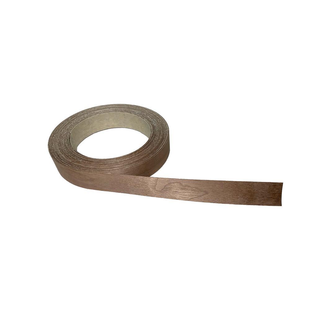 13/16 in. x 25 ft. Walnut Real Wood Veneer Edgebanding with Hot Melt Adhesive