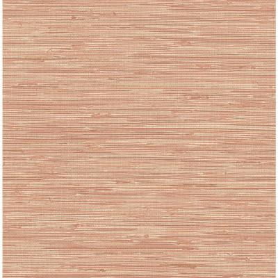 Pink Tibetan Grasscloth Spice Peel and Stick Wallpaper