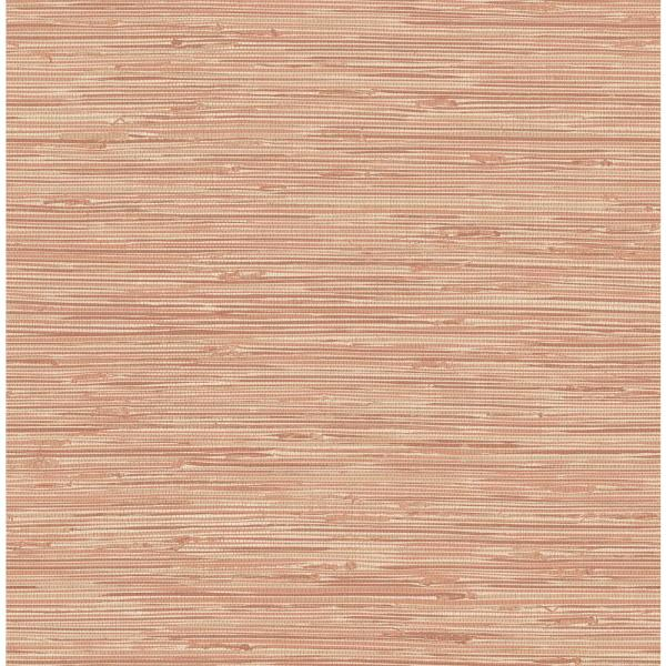 Tibetan Grasscloth Spice Pinks Vinyl Strippable Roll (Covers 30.75 sq. ft.)