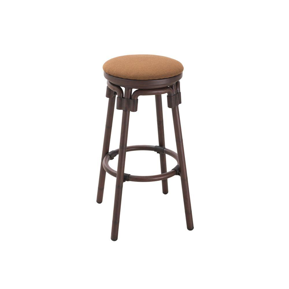 Sunjoy Tiki Aluminum Dark Brown Patio Bar Stool-110207010 - The ...