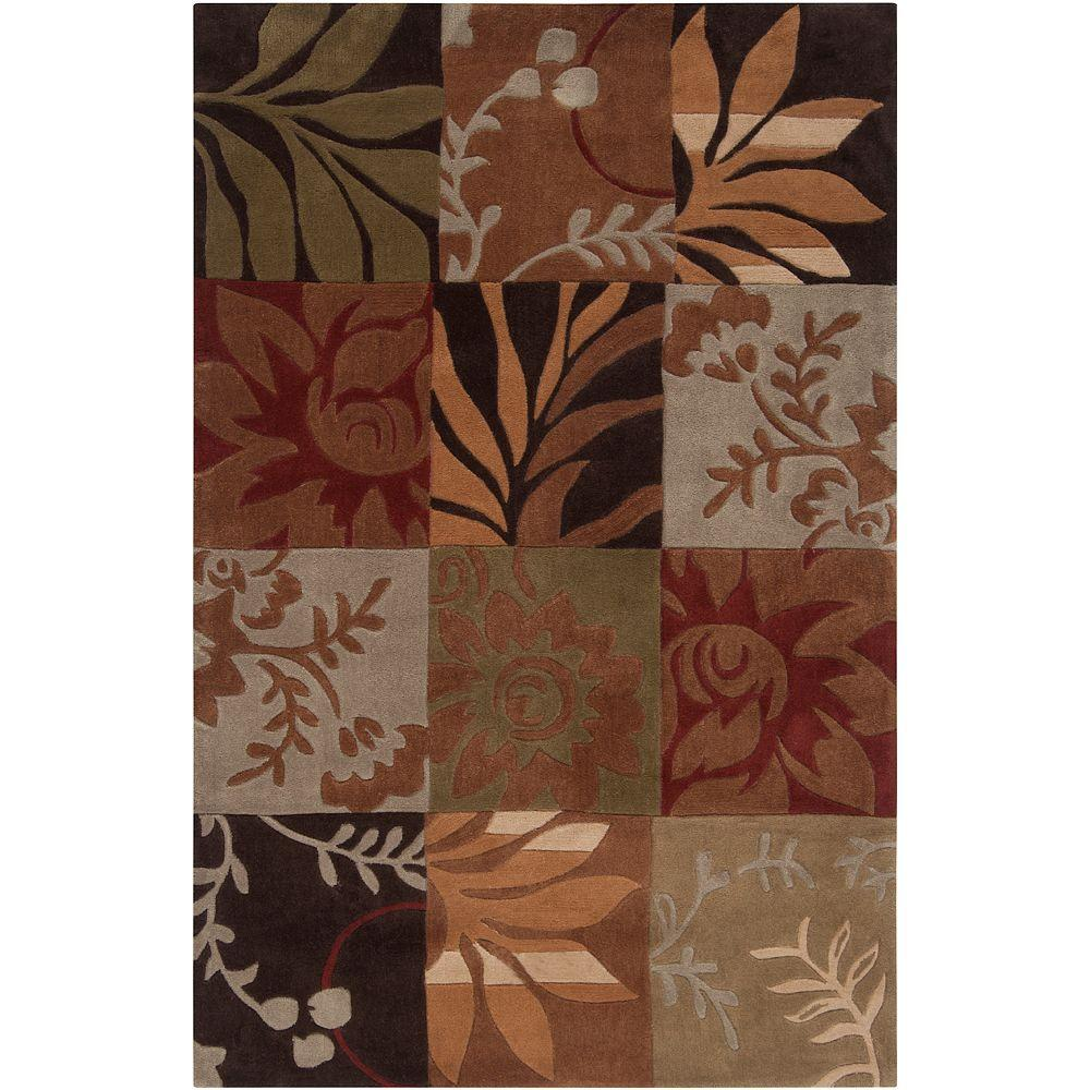 Equinox Rust and Green 8 ft. x 10 ft. Area Rug