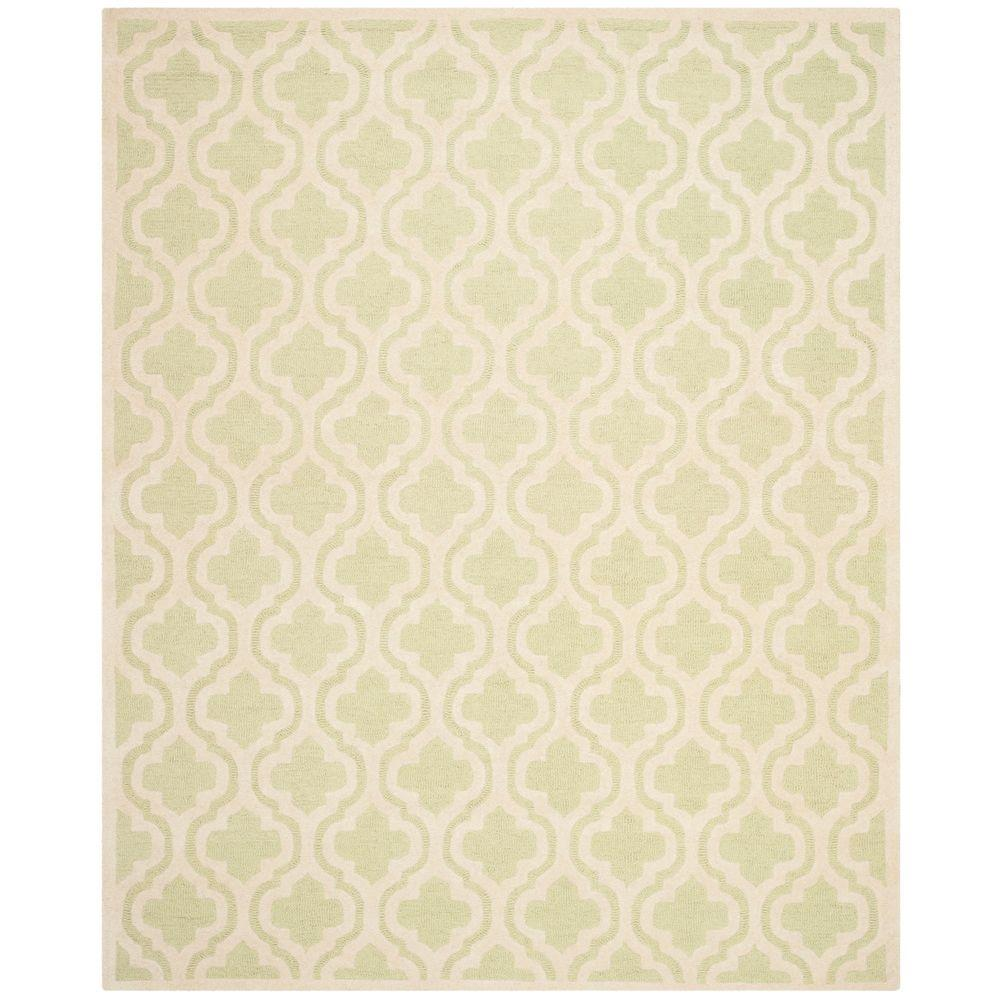 Cambridge Light Green/Ivory 9 ft. x 12 ft. Area Rug