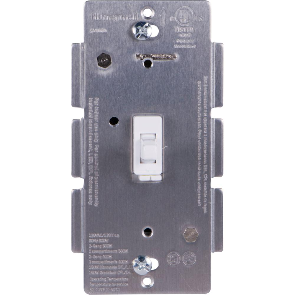 Z-Wave Plus Single In-Wall Smart Dimmer with Toggle in White