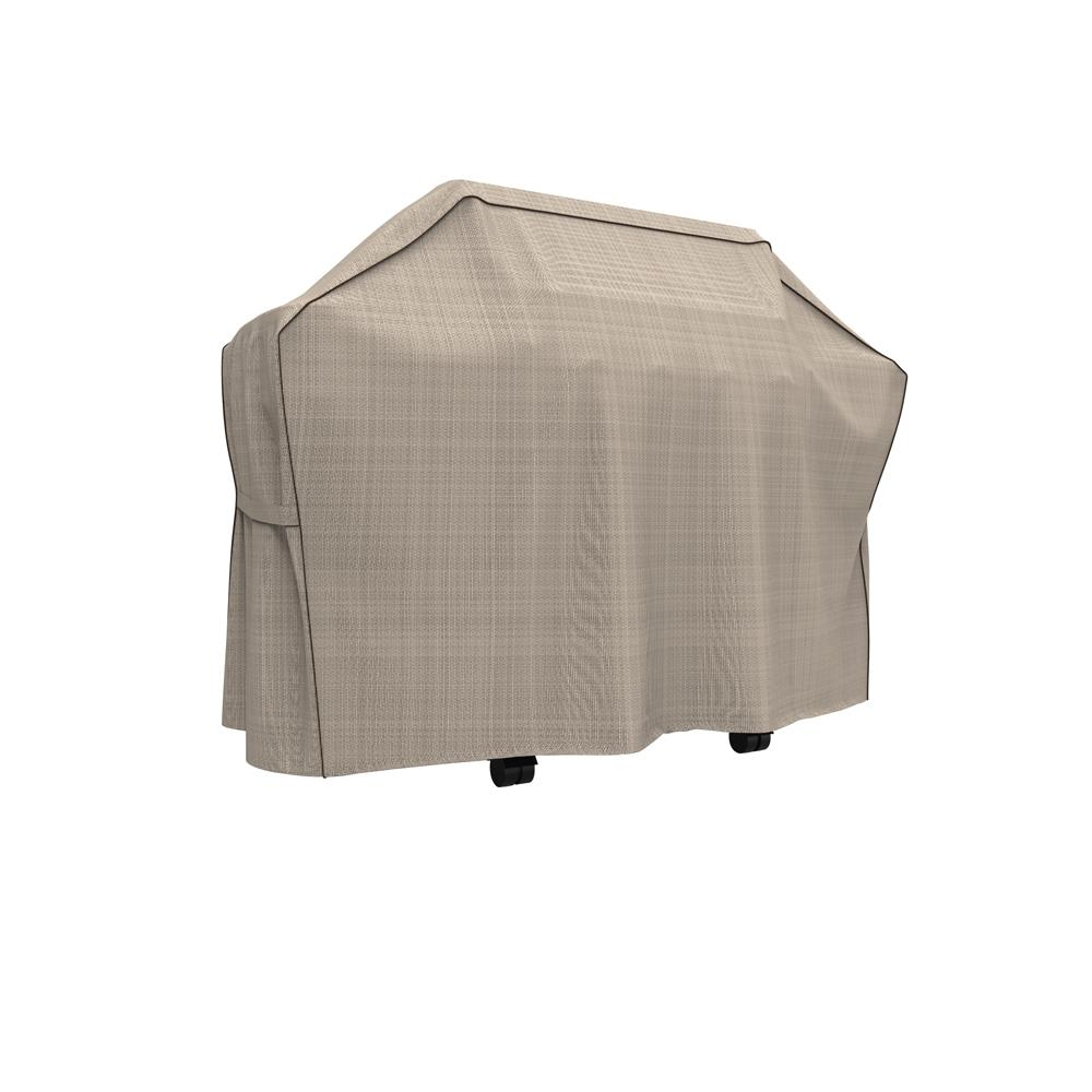 Budge Rust-Oleum NeverWet Mojave Large Black Ivory Waterproof BBQ Grill Cover