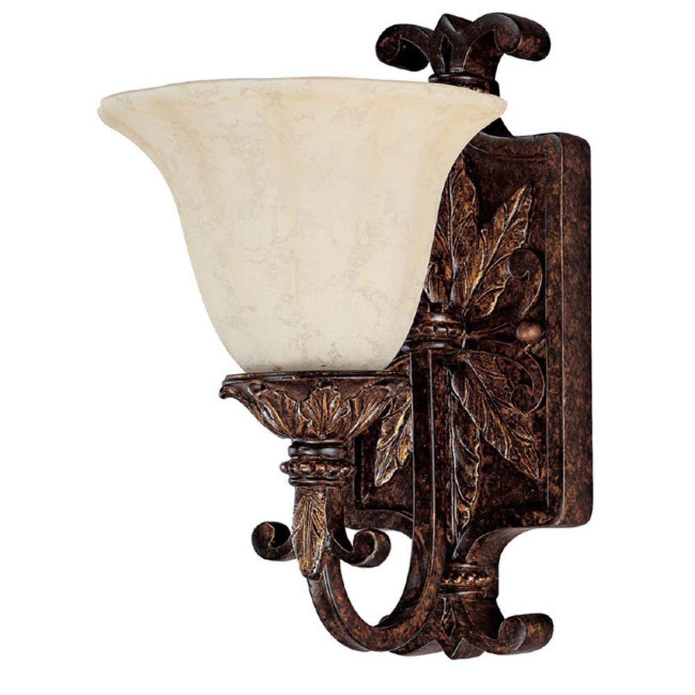 Filament Design Johnson 1-Light Chesterfield Brown Incandescent Wall Sconce