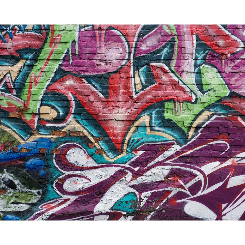Urban Graffiti Wall Mural Wr50513 The Home Depot