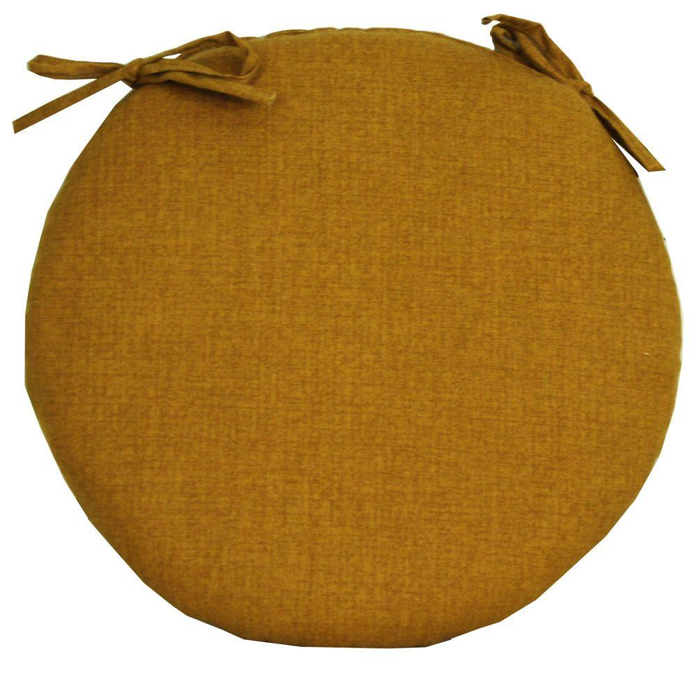 null Husk Textured Ginger Outdoor Bistro Seat Cushion-DISCONTINUED