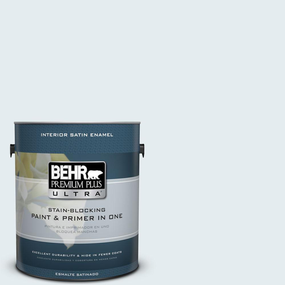 BEHR Premium Plus Ultra 1-gal. #W-D-510 Waterfall Mist Satin Enamel Interior Paint