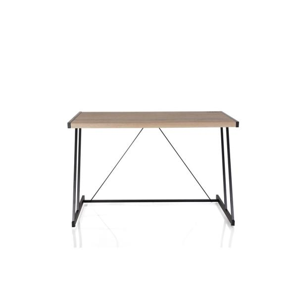 ACME Furniture Light Oak and Black Finis Writing Desk with USB