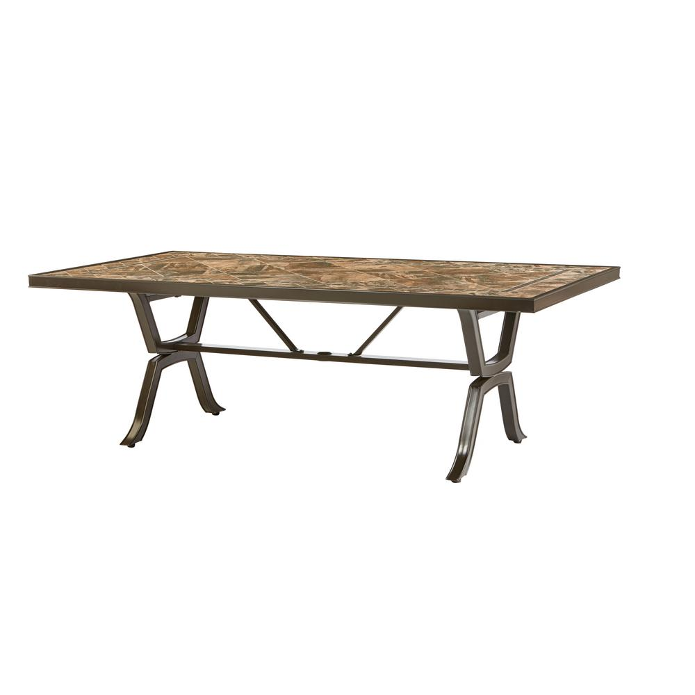 Richmond Hill 84 in. x 42 in. Patio Rectangular Dining Table
