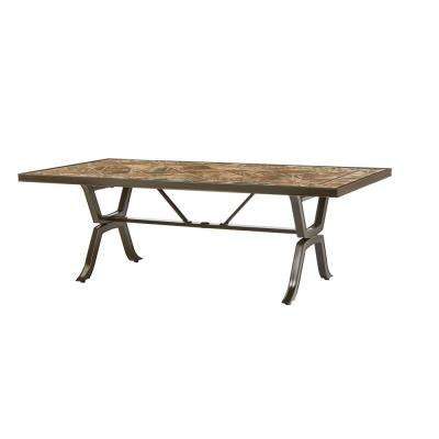Richmond Hill 84 in. x 42 in. Patio Rectangular Dining Table with Umbrella Hole