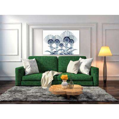 """32 in. x 48 in. """"Nodding Pincushions"""" Frameless Free Floating Tempered Glass Panel Graphic Art"""