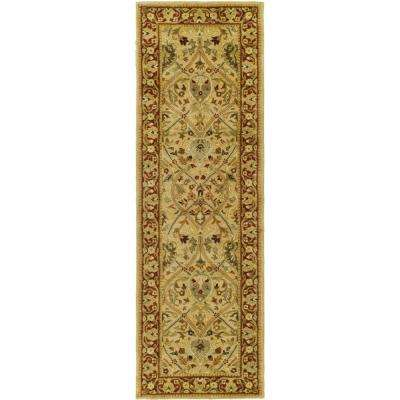 Persian Legend Ivory/Rust 3 ft. x 16 ft. Runner Rug