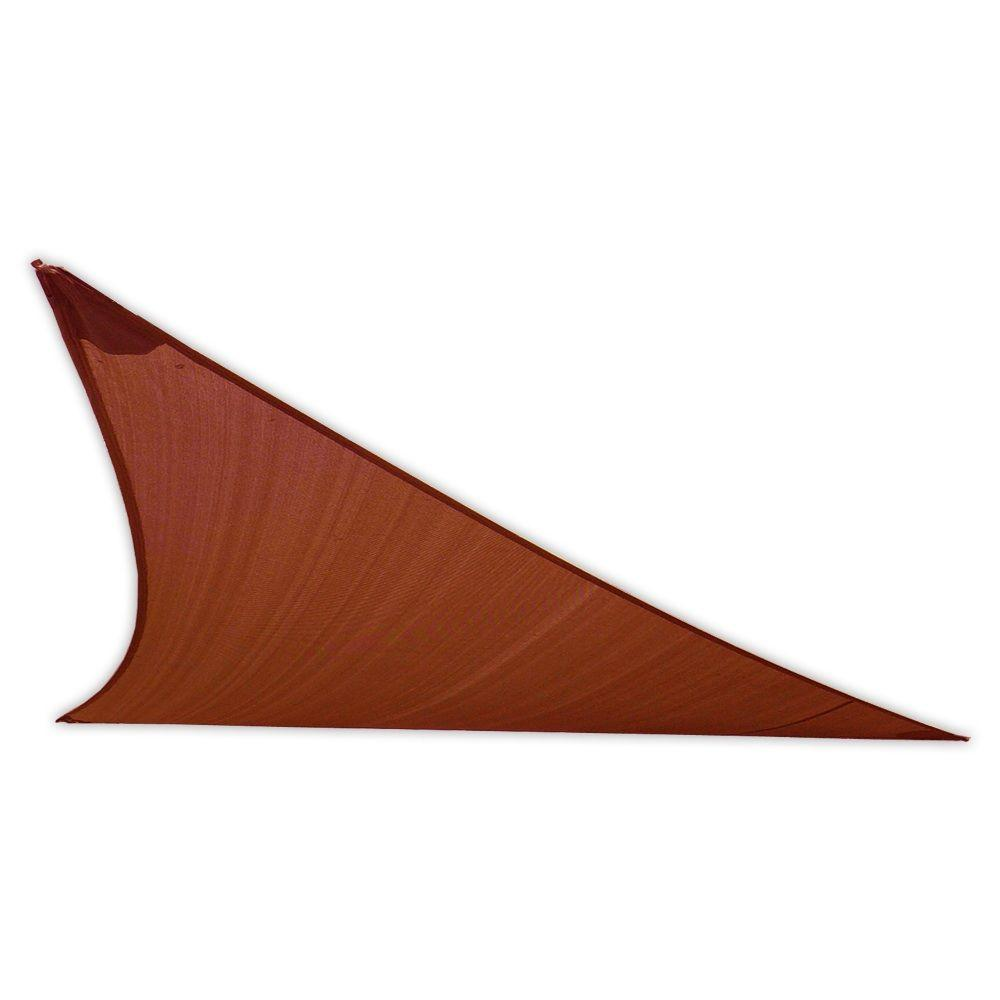 12 ft. Rust Triangle Patio Shade Sail with Mounting Hardware