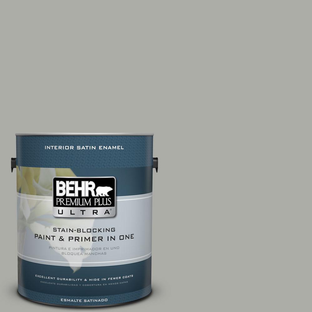 BEHR Premium Plus Ultra 1-gal. #PPF-39 Cool Granite Satin Enamel Interior Paint