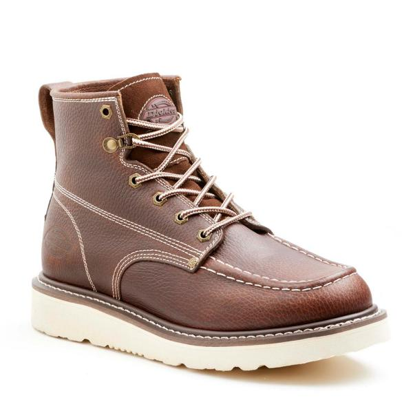 Dickies Crawford Safety Boot Leather Steel Toe Work Workwear Brown