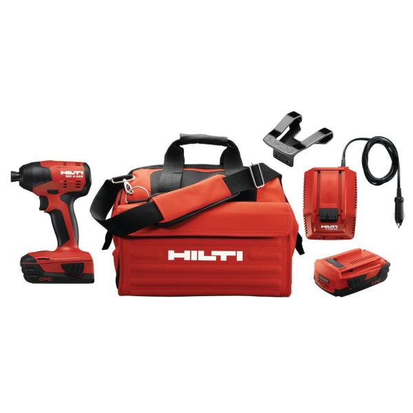 22-Volt Lithium-Ion 1/4 in. Hex Cordless Brushless SID 4 Compact Impact Driver with 3 gear speed and DC Car Charger
