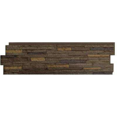 Stacked Stone Walnut Brown 13.25 in. x 46.5 in. Faux Stone Siding Panel (5-Pack)
