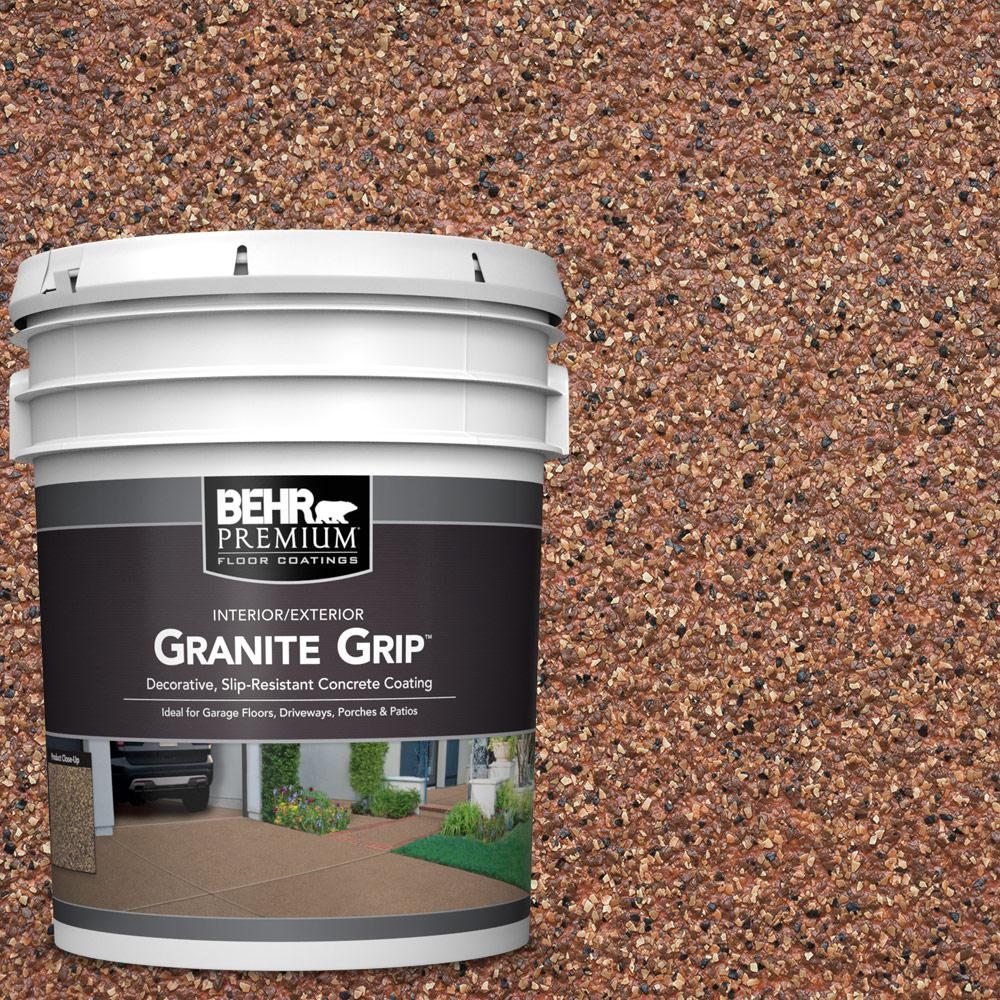 BEHR Premium 5 gal. #GG-09 Sunset Ridge Decorative Flat Interior/Exterior Concrete Floor Coating
