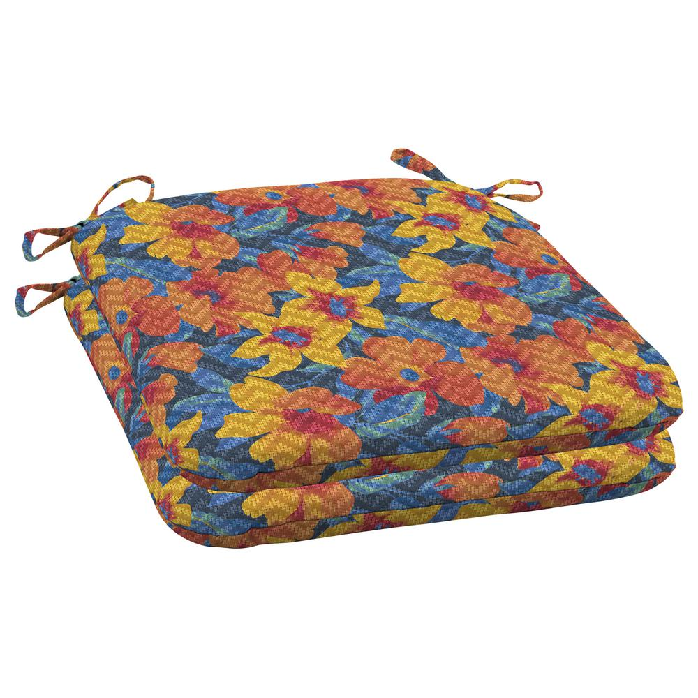 Arden Selections Arden Selections DriWeave Disco Floral Outdoor Square Seat Pad (2-Pack)