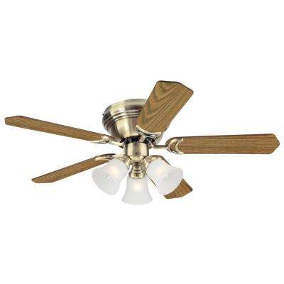 Contempra Trio 42 in. Antique Brass Ceiling Fan