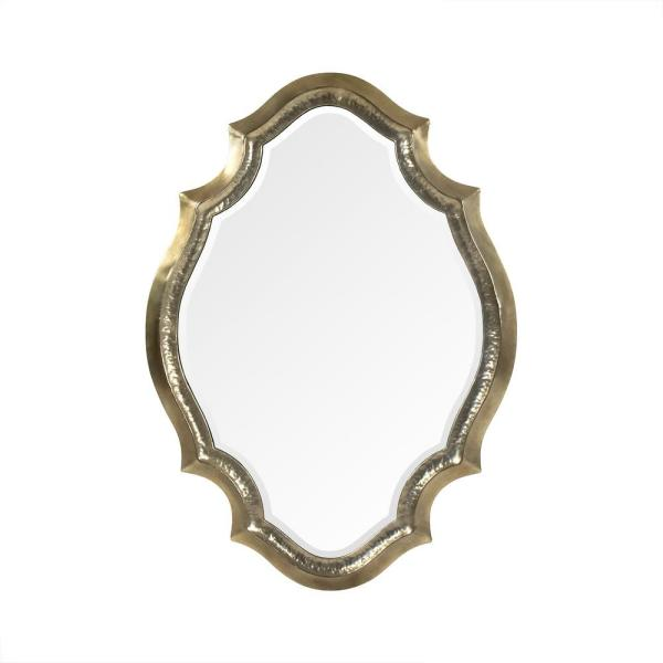 Zentique Large Irregular Antique Gold Antiqued Beveled Glass Art Deco Mirror 50 In H X 36 In W Ezt150633f The Home Depot