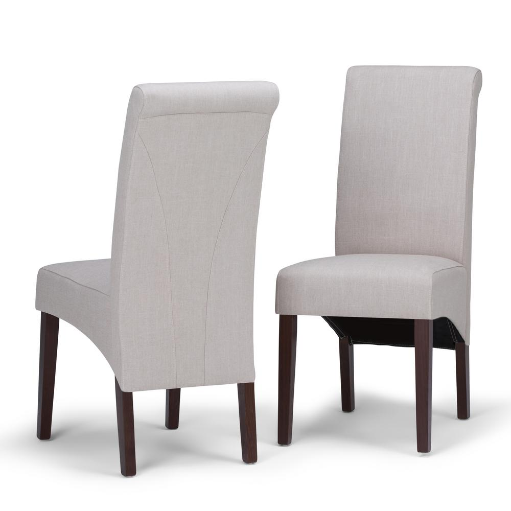 Simply Home Avalon Natural Polyester Parsons Dining Chair...