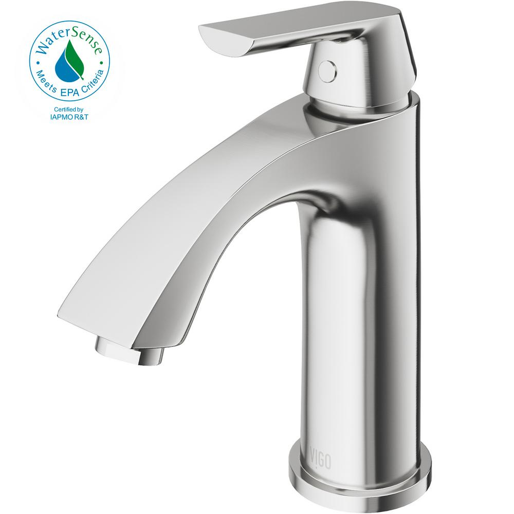 vigo bathroom faucets. VIGO Penela Single Hole 1-Handle Bathroom Faucet In PVD Brushed Nickel Vigo Faucets D