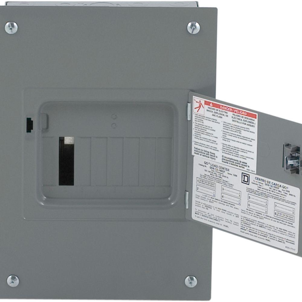 Square D QO 100 Amp 6-Space 12-Circuit Indoor Flush Mount Main Lug Load Center with Cover, Door